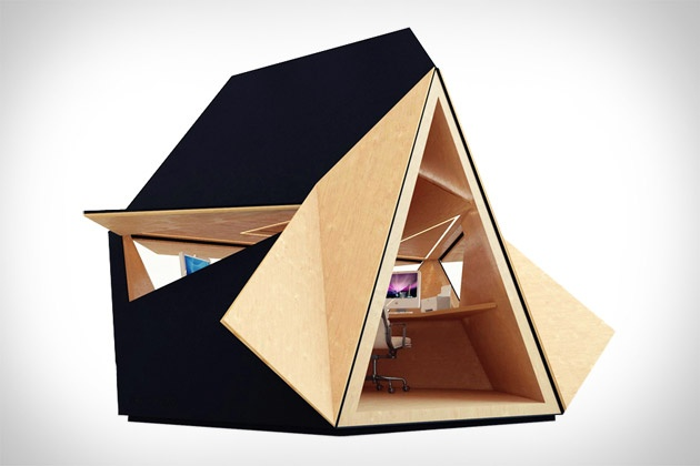 Clad in copper, zinc, corten steel, or marine plywood, and lined in birch-faced plywood or plasterboard, the Tetra Shed allows you to add an office almost anywhere!