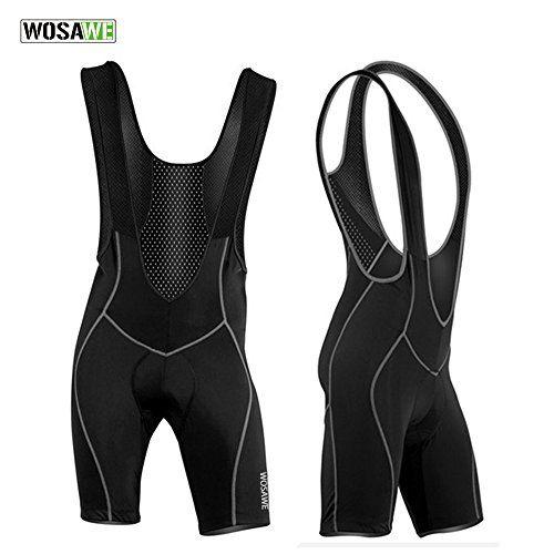 Men's Cycling Bib Shorts - WOLFBIKE Mens Cycling Bib Shorts Riding Bicycle Bike 3D Padded Braces Tights MTB Compression Shorts Black -- Check out this great product.