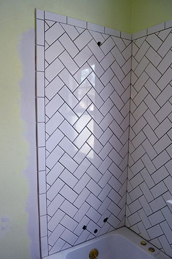 My Love Hate Relationship with Herringbone Tile: Part II edge detail