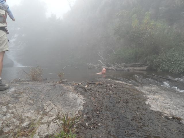 Pools: after a serious hike even a mist covered Mulanje pool is fantastic