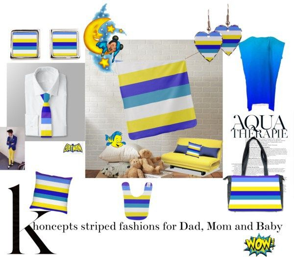 Striped Khoncepts for Dad, Mom and Baby