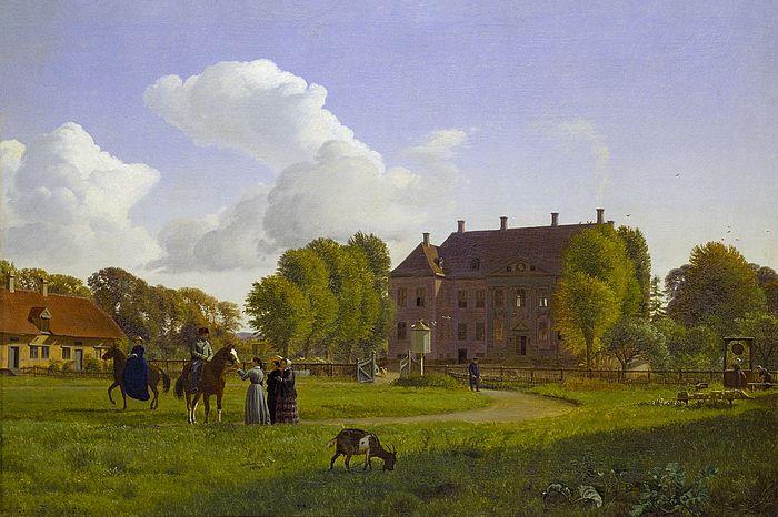 P.C. Skovgaard.  Nysø on a clear autumn day, 1853
