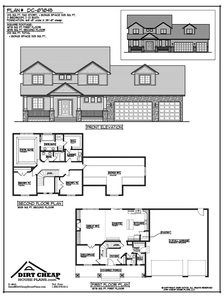 Story House Floor Plans And Elevations Best Ideas About In