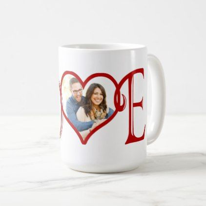 LOVE custom Heart photo Coffee Mug | Zazzle.com
