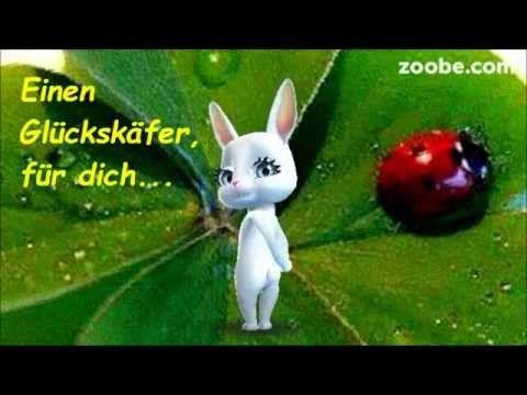 Glückskäfer - er geht auf Reise, ich schicke ihn dir ;-) Zoobe, Animation - YouTube