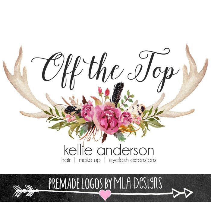 138 best mla designs images on pinterest logo designing arrow floral antler rustic boutique watercolor premade logos for business cards stationary print boho rustic watercolor reheart Images