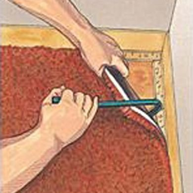 We ripped out our own carpet, and disposed of it ourselves. Despite being novices, it was pretty easy – but it was a dusty, dirty process and a little time consuming. You'll need: Sever…