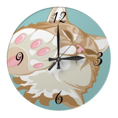 17 best images about art cat clock on pinterest tabby - Kitty cat clock ...