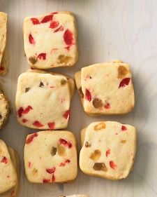 shaped icebox-cookie variations: Almond-Cherry Coins Apricot-Pistachio ...