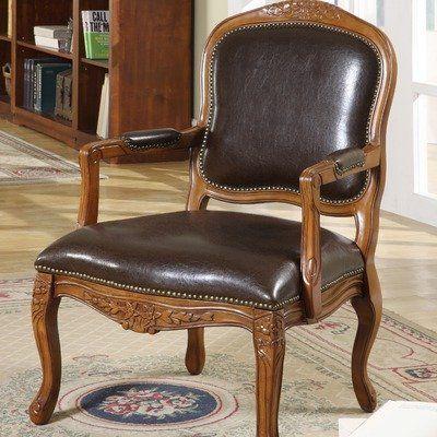 Amazon.com - Napoleon Bicast Leather Arm Chair