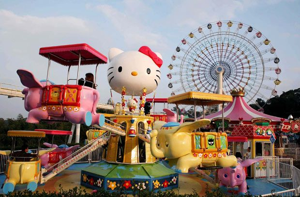 Hello Kitty theme park called Harmonyland on Kyushu Island, Japan