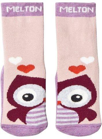 Melton Abs Sock Terrycotton - Owl Very Grape