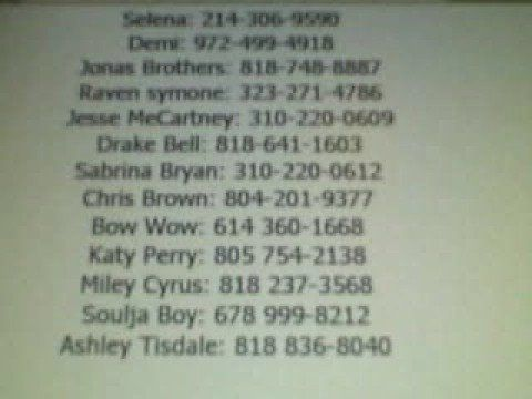 celebrities real phone numbers - Google Search | people to meet