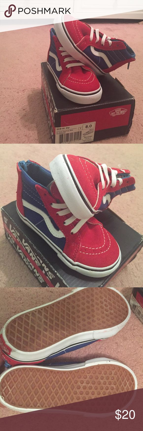 little boys vans brand new without tags-never used. little boys vans. shoe box included Vans Shoes Sneakers