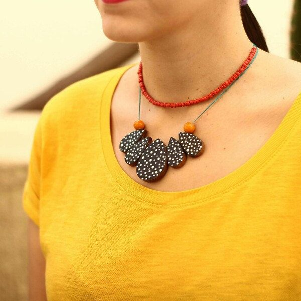 New double faced little rocks necklace