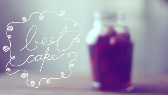 beet cake by tiger in a jar. song: babe - evenings