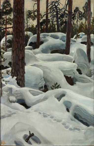 Akseli Gallen-Kallela (1865-1931) The Lair of the Lynx, 1908, Oil on Canvas - 98 x 64 Turku, Art Museum