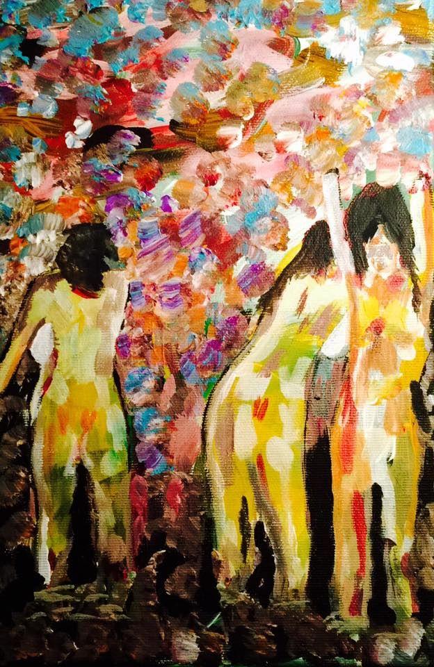 painting, acrylic on canvas, 20x30, 2016,