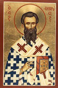 St. Ambrose, pray for us [Feastday December 7th]