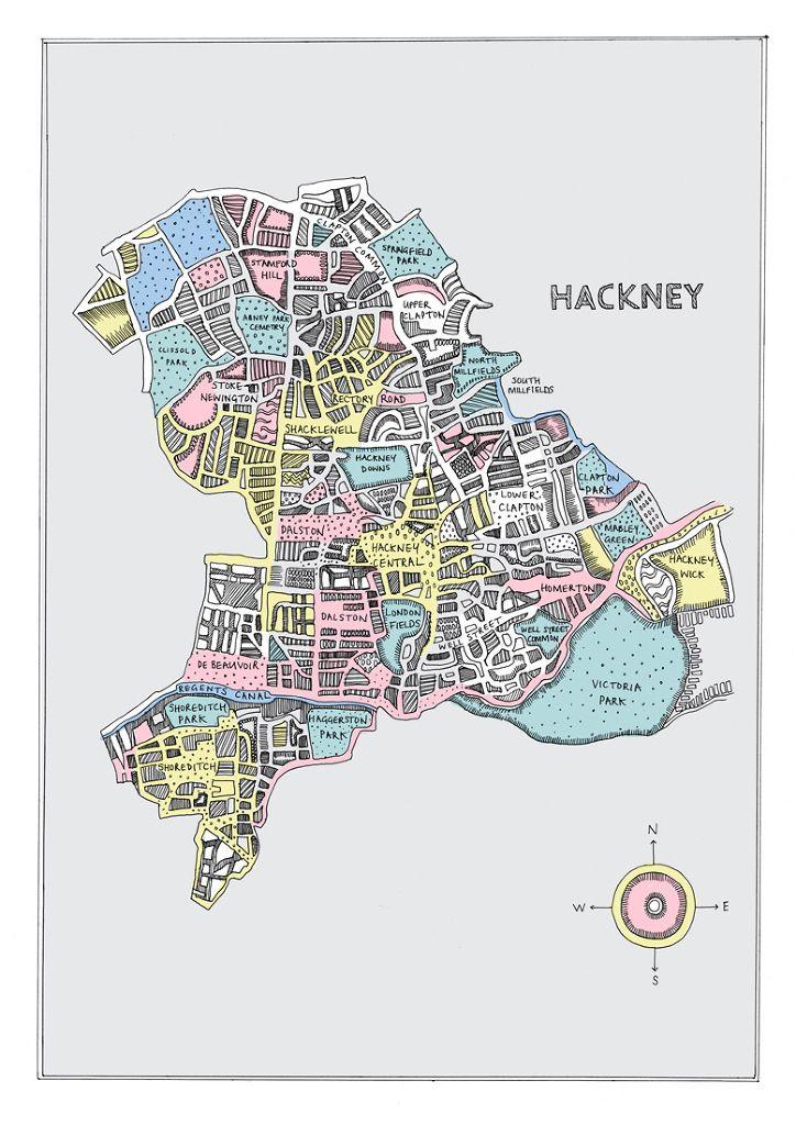 May van Millingen - Map of Hackney