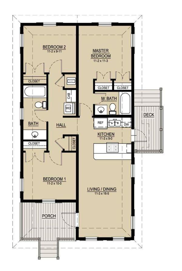 17 mejores ideas sobre planos de bungalows en pinterest - Planos de casas de madera de una planta ...