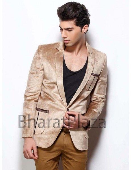 Handsome look Velvet Blazer Item code : TSBL1081  http://www.bharatplaza.com/mens-wear/mens-designer-suits/mens-blazer/handsome-look-velvet-blazer-tsbl1081.html
