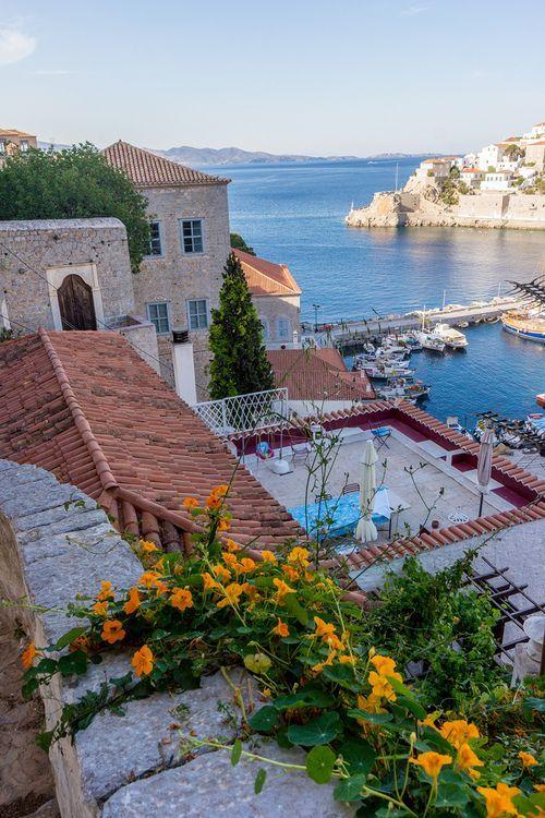 seaside Hydra, Greece