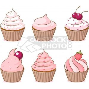 EPS Vector of Cupcakes - Colorful cupcake set csp4410644 - Search Clip Art, Illustration, Drawings and Clipart Vector Graphics Images
