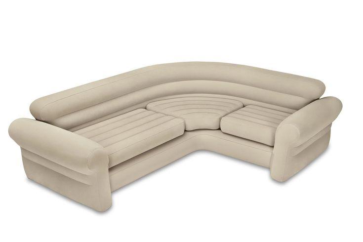Intex Inflatable Corner Living Room Neutral Sectional Sofa