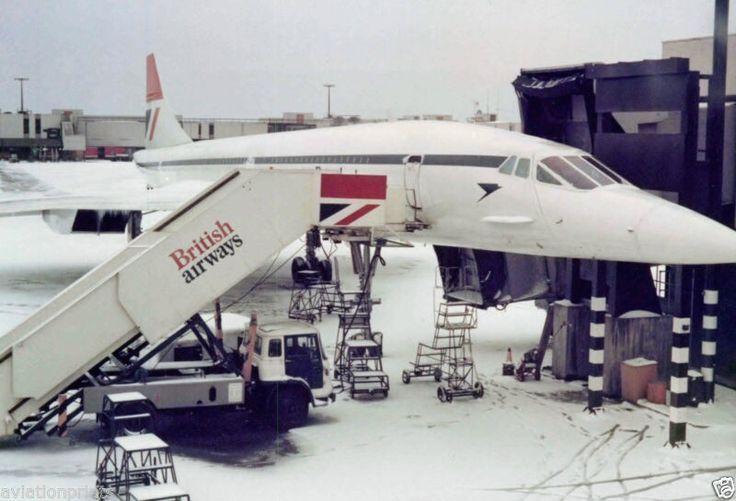 British Airways Concorde in Snow