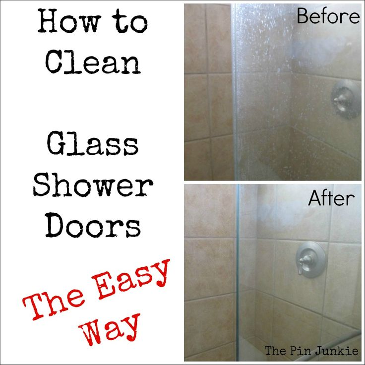 The Pin Junkie: How To Clean Glass Shower Doors The Easy Way