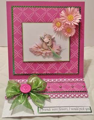 """""""If friends were flowers,I would pick you"""" by Angela O'Donoghue on House-Mouse Designs®"""