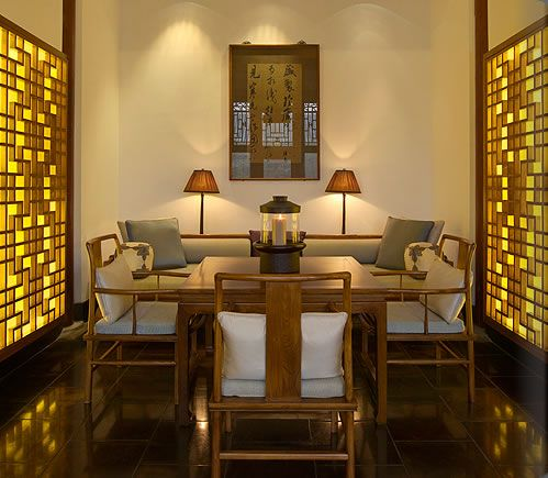 Beijing Luxury Resort - Aman at Summer Palace - deluxe suite dining room