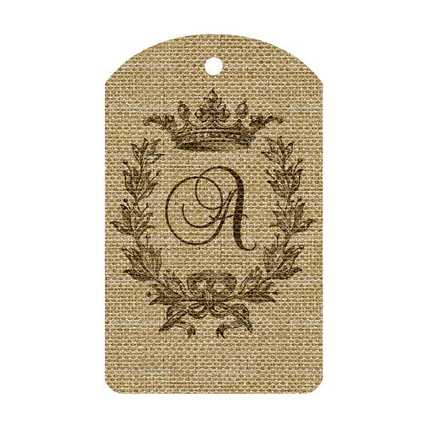 Burlap Alphabet Tags (free download of the complete alphabet )... print on burlap, add some twine, and you're good to go in personalizing a gift in a chic and stylish way