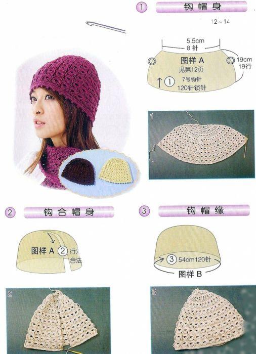 Mejores 62 imágenes de CZAPKI en Pinterest | Punto de crochet ...