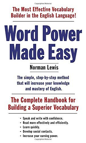 Word Power Made Easy: The Complete Handbook for Building a Superior Vocabulary by Norman Lewis  $7.99 http://www.amazon.com/dp/110187385X/ref=cm_sw_r_pi_dp_kz3Dvb0R1WHAJ