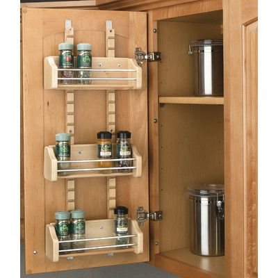 Rev-A-Shelf Adjustable Door Mount Spice Rack & Reviews | Wayfair