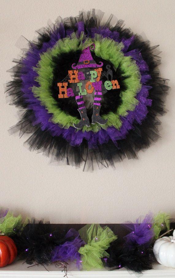 Best 25 Halloween Tulle Wreath Ideas On Pinterest Tulle