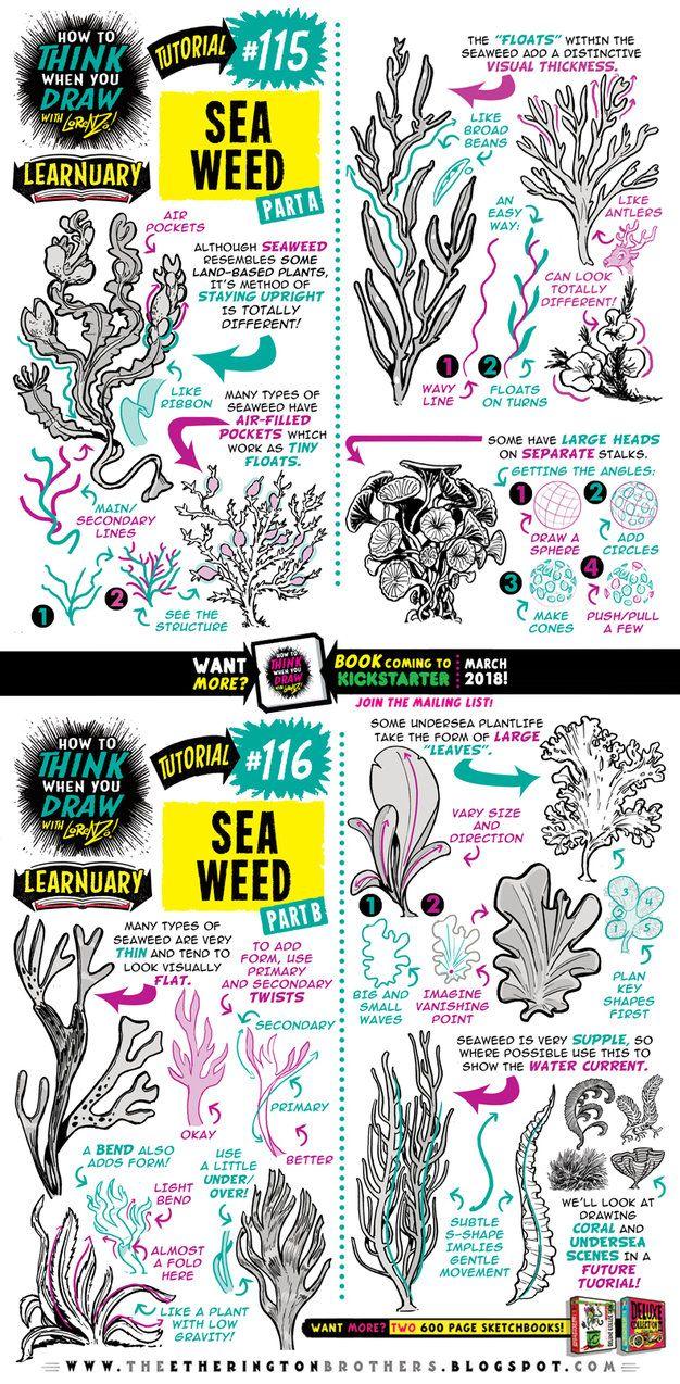 How to draw SEAWEED tutorial by STUDIOBLINKTWICE.deviantart.com on @DeviantArt