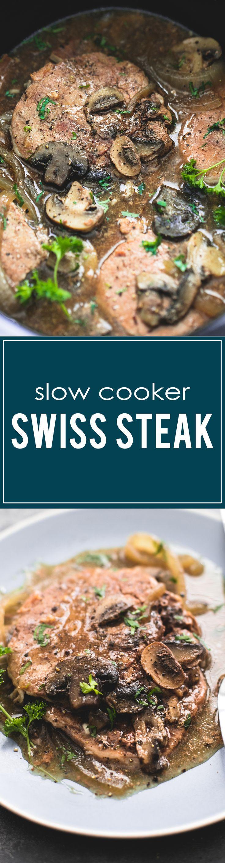 Slow Cooker Swiss Steak | http://lecremedelacrumb.com
