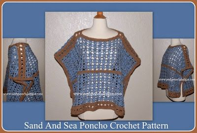 Posh Pooch Designs Dog Clothes: Sand and Sea Poncho Free Crochet Pattern | Posh Pooch Designs