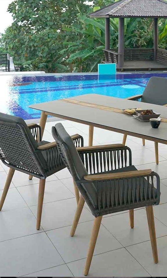 Urlaub Gartenstuhl Ein Echter Hingucker Das Diningset Flix 3 Rope Zebra Gartenmobel Hinterhof Terrassen Designs Gartenstuhle