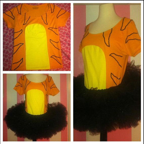 Piglet OR Tigger costume with shirt and tutu on Etsy, $65.00