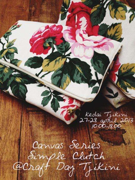 Canvas Series Simple Clutch