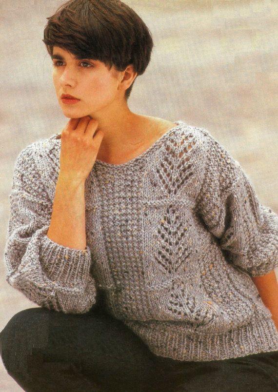 VINTAGE knitting pattern pdf ladies winter by EstherKateVintage