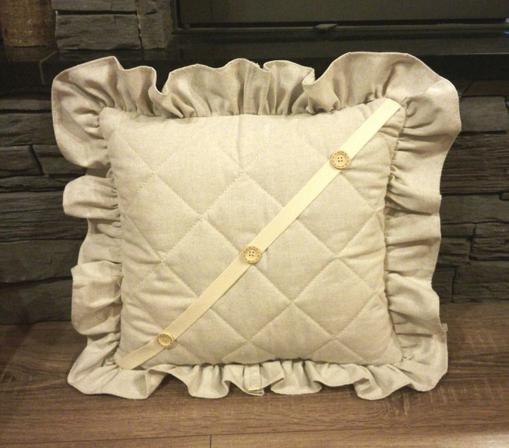 Handmade Decorative Ruffled Cushion Cover made from 100% cotton fabric by StitchUupByHamilton on Etsy