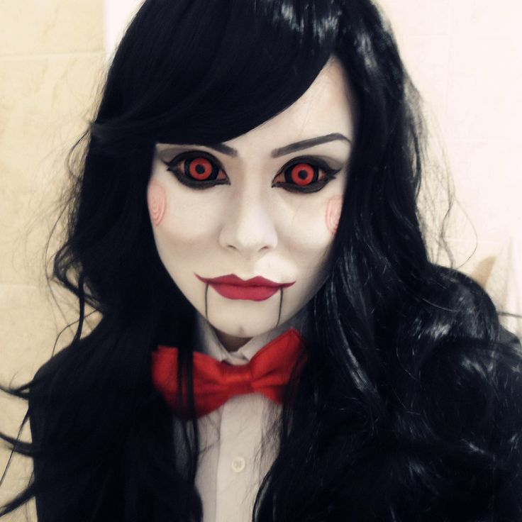 if billy the saw doll had a girlfriend would she look like this - Fun Makeup Ideas For Halloween