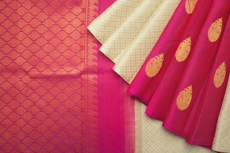 Kanakavalli Handwoven Kanjivaram Silk Sari 1017782                                                                                                                                                                                 More