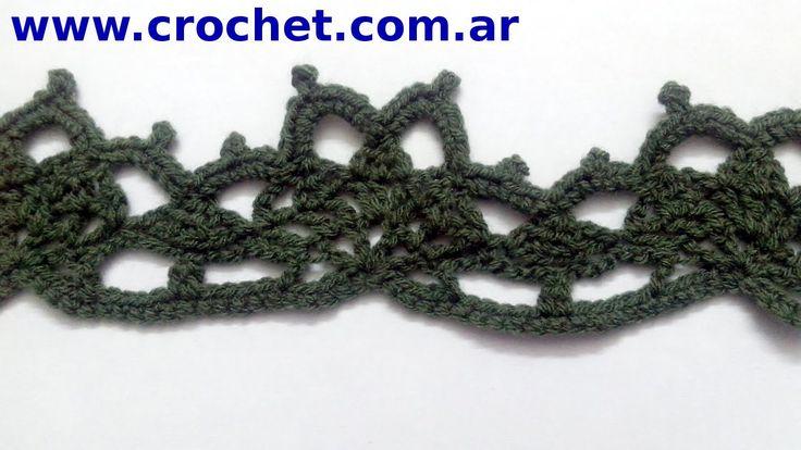 Puntilla N° 56 en tejido crochet tutorial paso a paso.