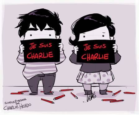 Boy and girl for  Carlie Hebdo